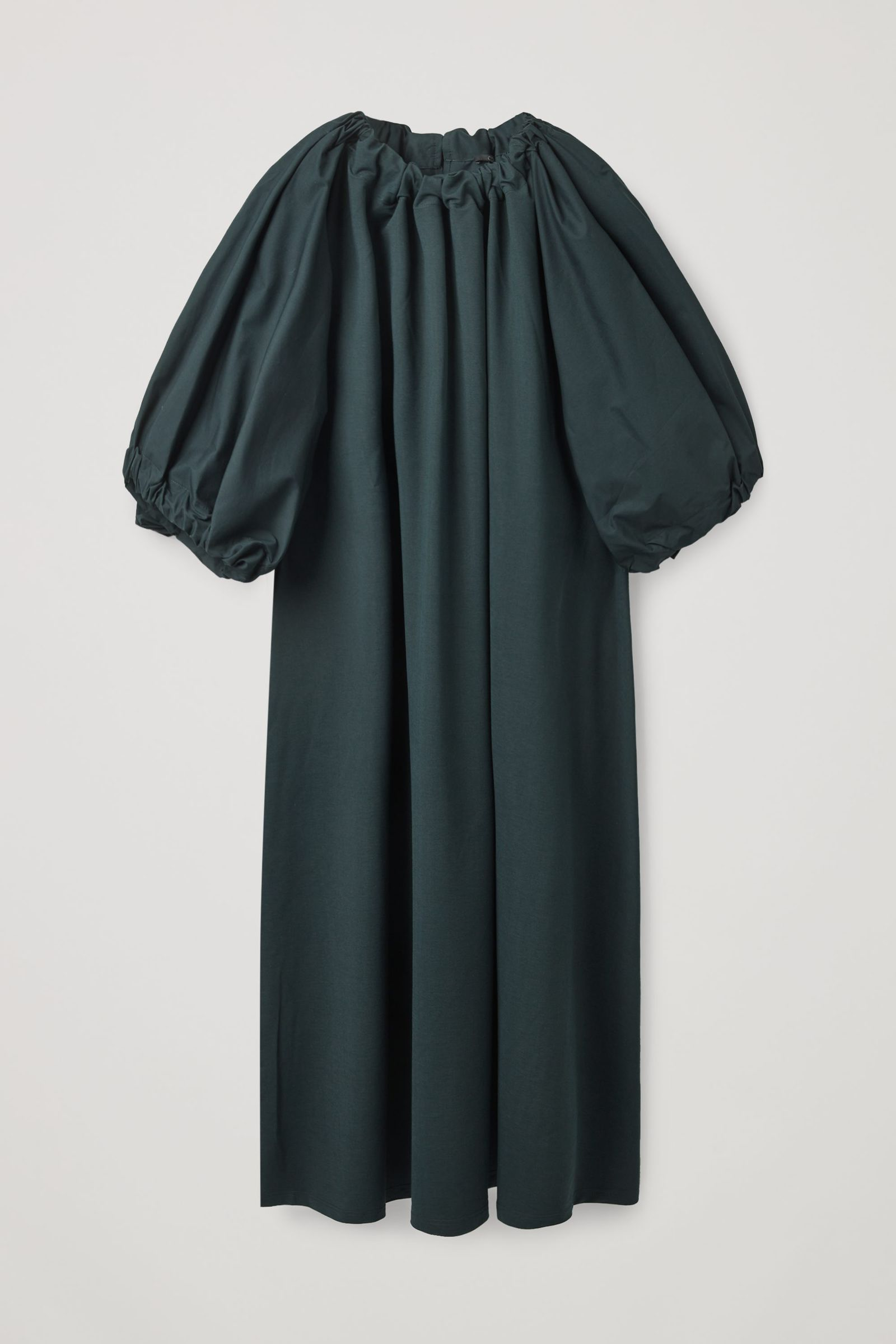COS 개더드 드레스의 다크 터쿼이즈컬러 Product입니다.