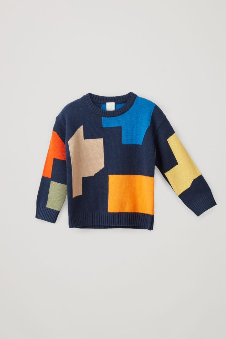 COS 컬러 블록 코튼 울 스웨터의 멀티컬러컬러 Product입니다.