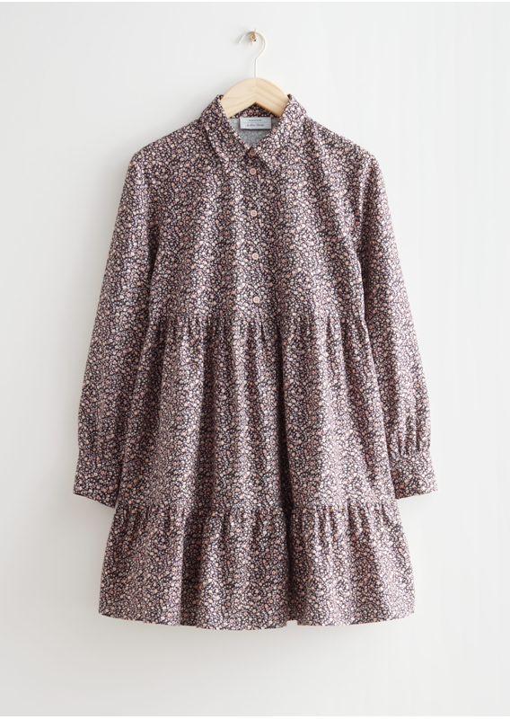 &OS image 14 of 블랙 in 볼류미너스 미니 셔츠 드레스