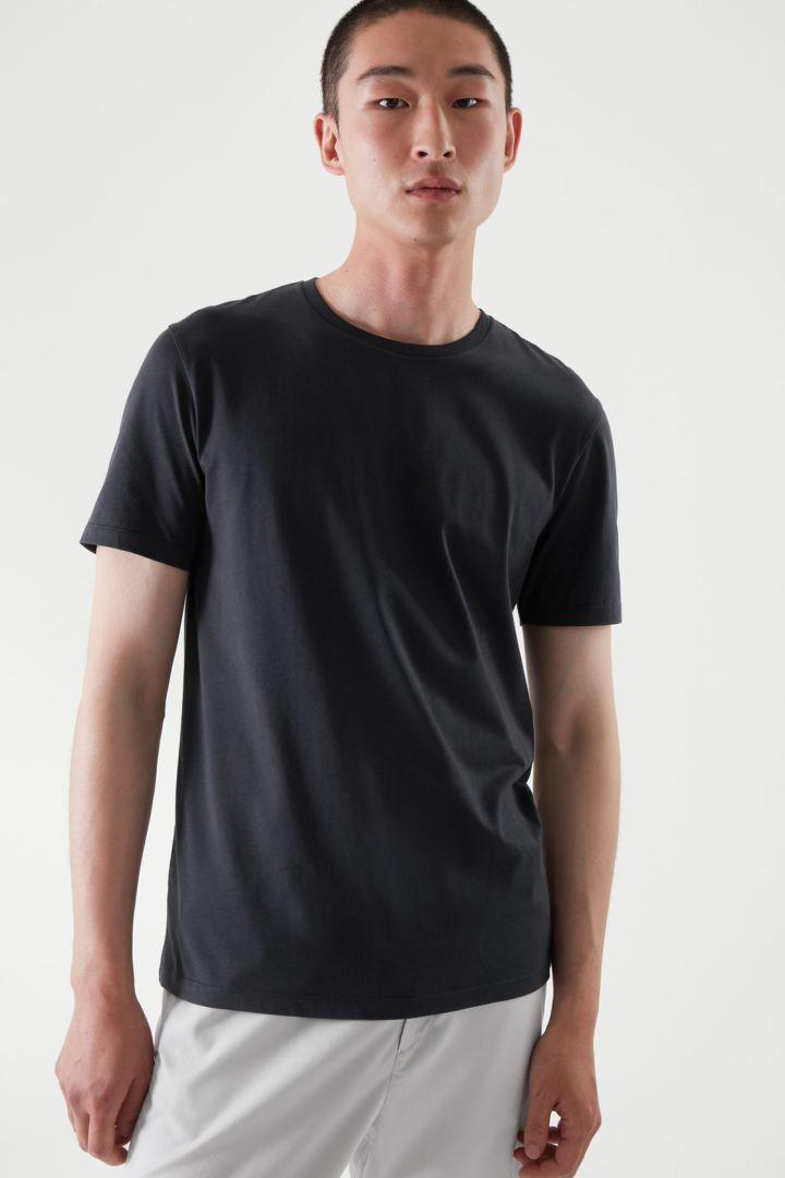 COS default image 2 of 블루 in 레귤러 핏 티셔츠