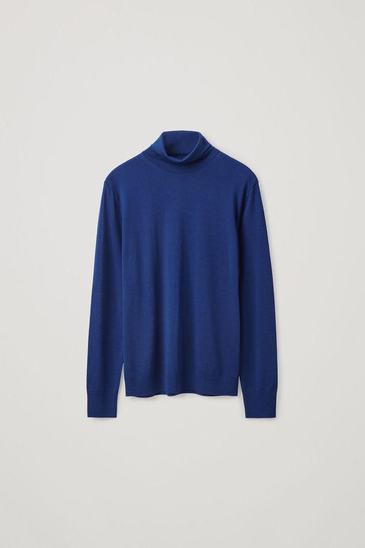 COS hover image 12 of 블루 in 메리노 롤넥 스웨터