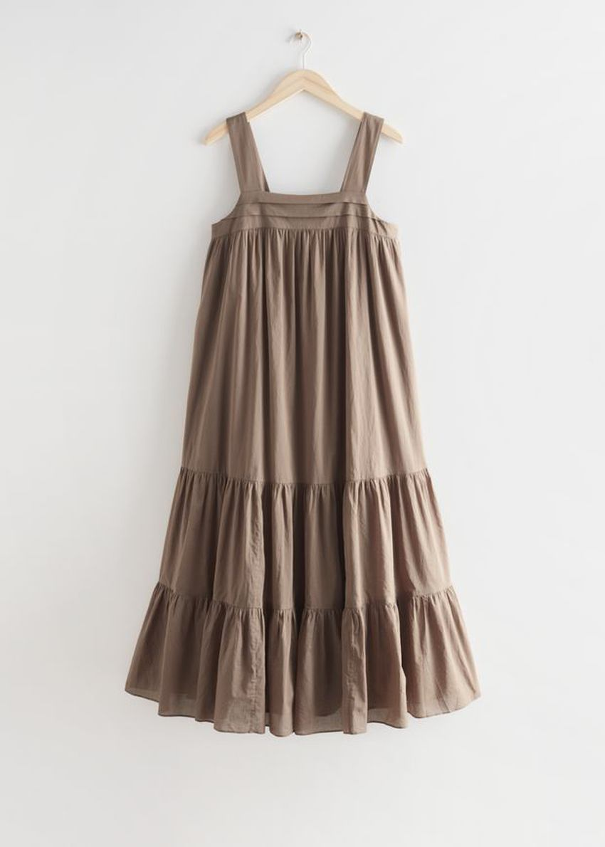 앤아더스토리즈 릴렉스드 티어드 코튼 드레스의 몰컬러 Product입니다.