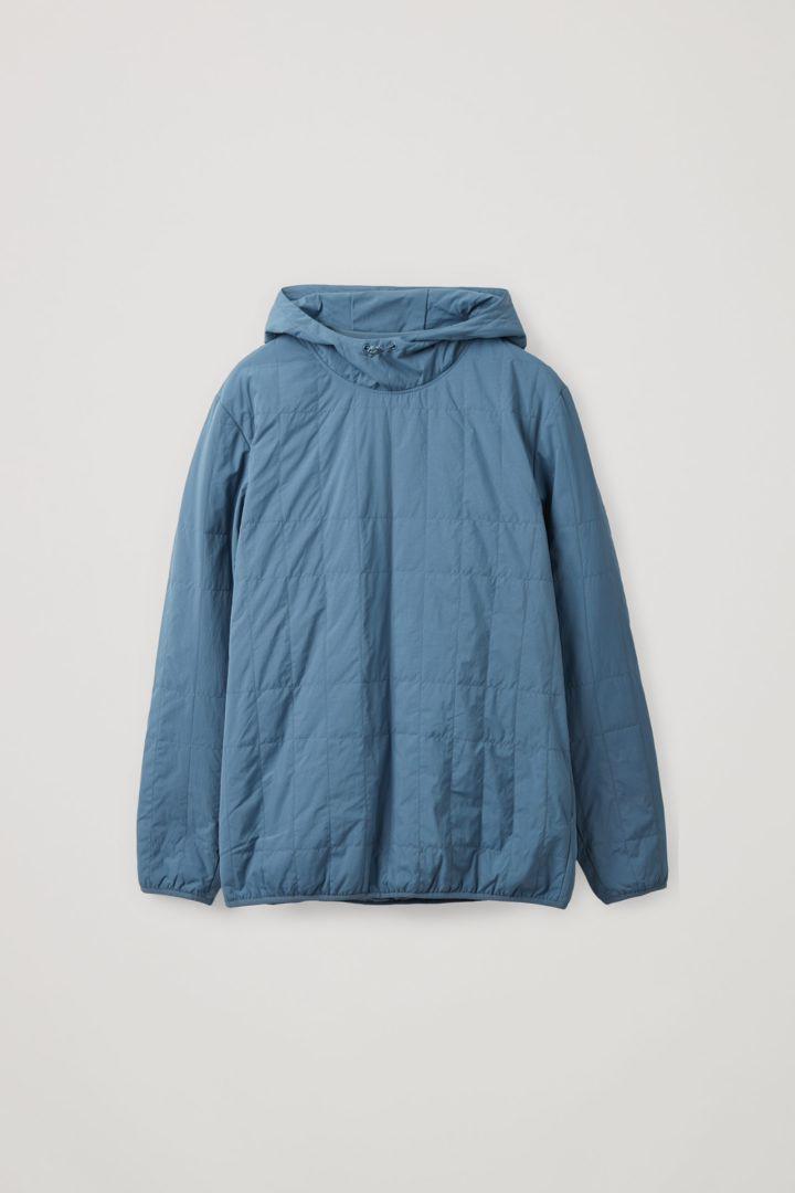 COS hover image 10 of 블루 in 리사이클 폴리아미드 퀼팅 풀오버 재킷