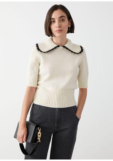 &OS image PRA default 1 of  in 와이드 카라 울 니트 스웨터