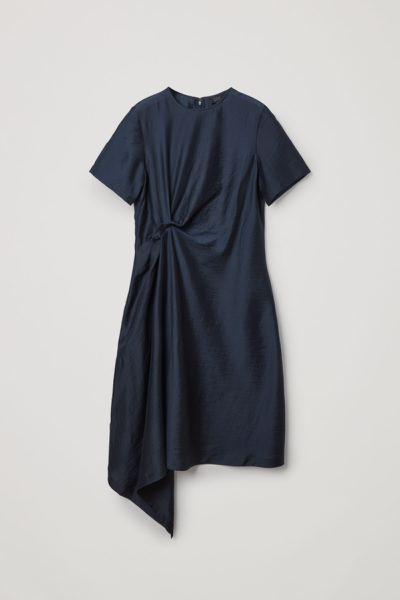COS hover image 7 of 블루 in 라이오셀 믹스 노트 드레이프 드레스