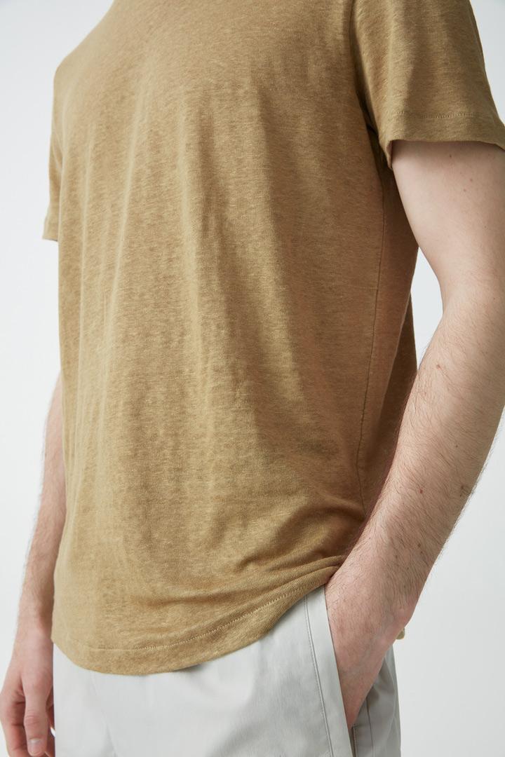 COS default image 12 of 그린 in 쇼트 슬리브 리넨 티셔츠