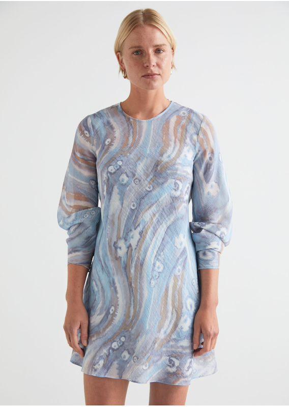 &OS image 6 of  in 프린트 플로티 A 라인 미니 드레스