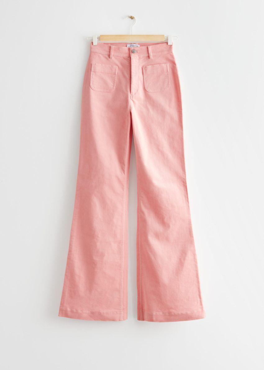 앤아더스토리즈 부츠컷 하이 웨이스트 진의 핑크컬러 Product입니다.