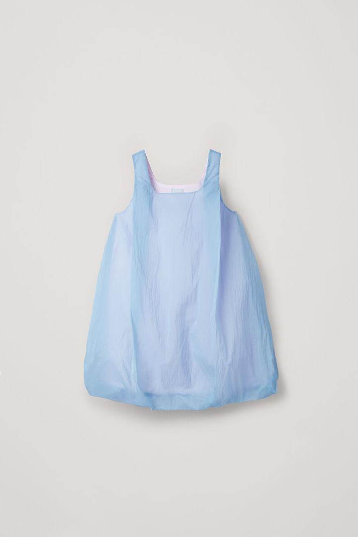COS hover image 9 of 블루 in 라이트웨이트 더블 레이어 드레스