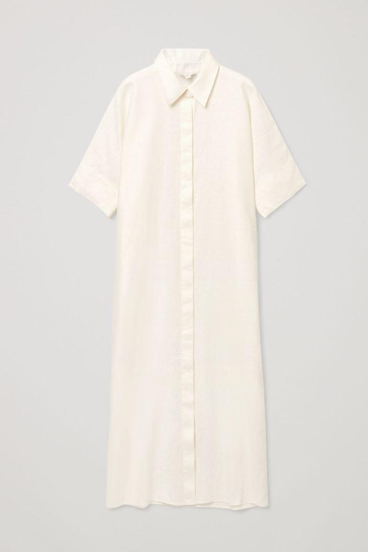 COS 리넨 셔츠 드레스의 화이트컬러 Product입니다.