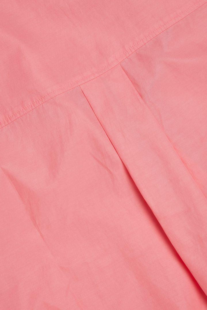 COS 집업 코튼 쿠프로 셔츠 드레스의 핑크컬러 Detail입니다.