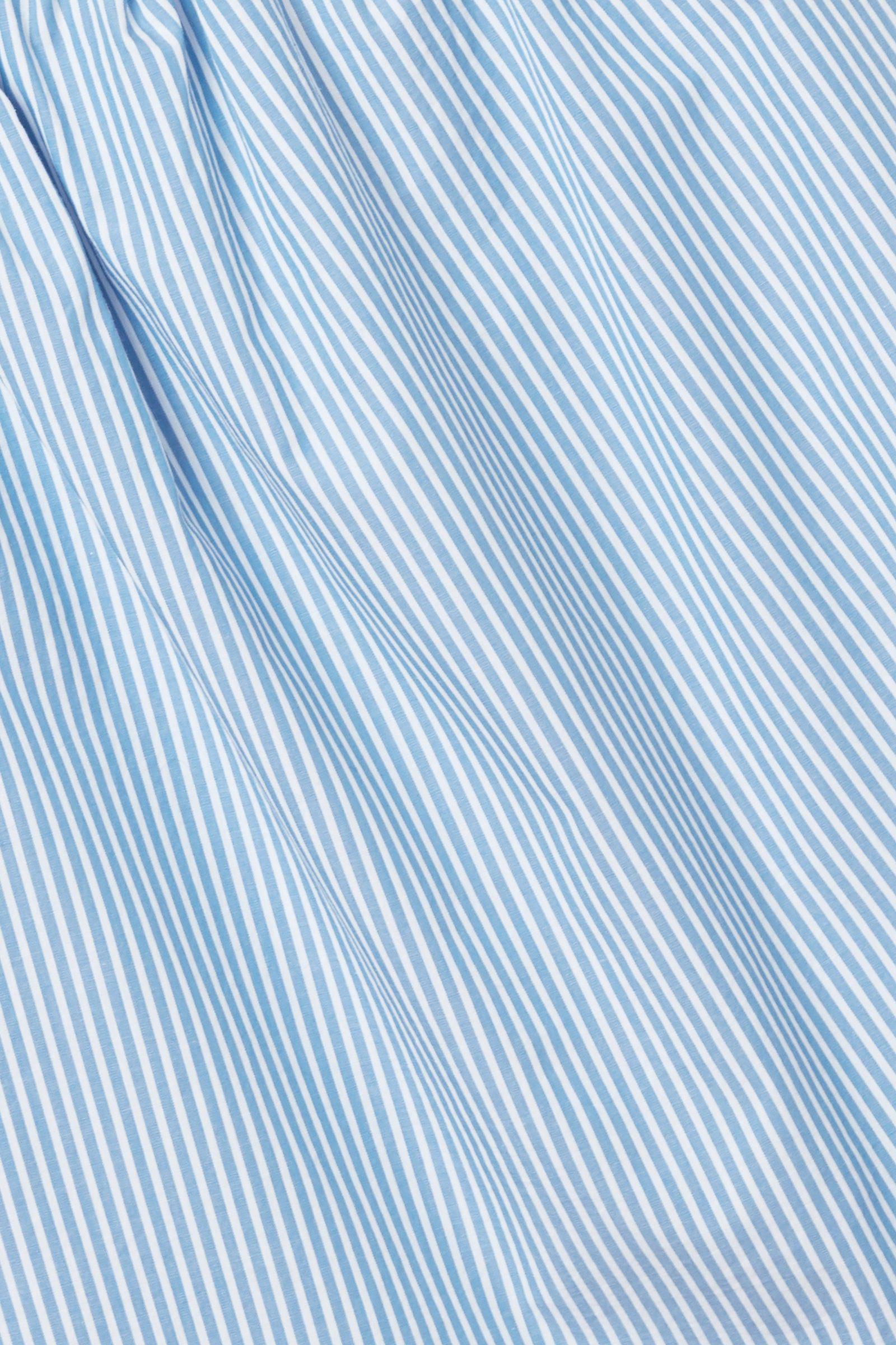COS 스트라이프 코튼 탑의 블루 / 화이트컬러 Detail입니다.