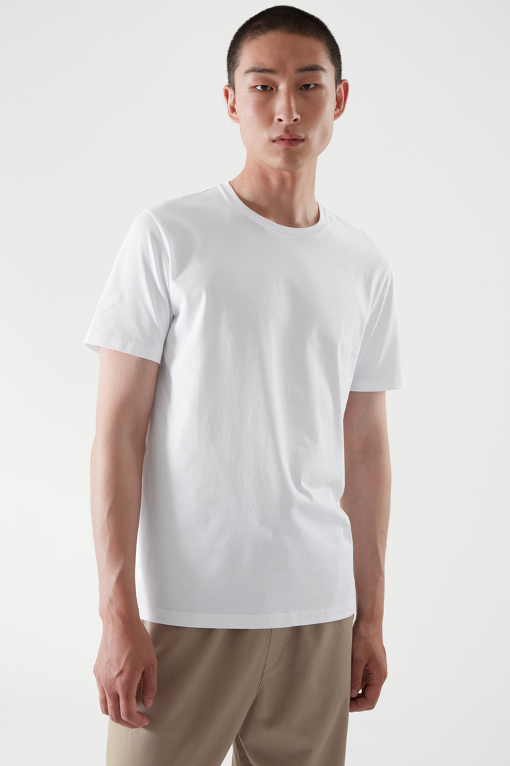 COS default image 8 of 화이트 in 레귤러 핏 티셔츠
