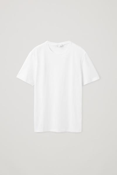 COS default image 12 of 화이트 in 레귤러 핏 티셔츠