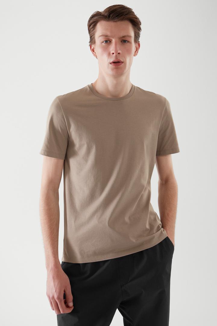 COS default image 9 of 브라운 in 레귤러 핏 티셔츠