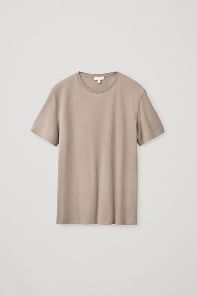 COS default image 7 of 브라운 in 레귤러 핏 티셔츠