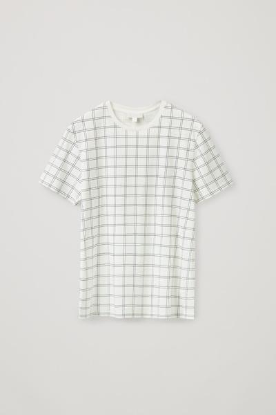 COS default image 10 of 화이트 in 레귤러 핏 티셔츠