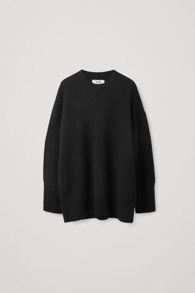 COS default image 4 of 블랙 in 오버사이즈 캐시미어 스웨터