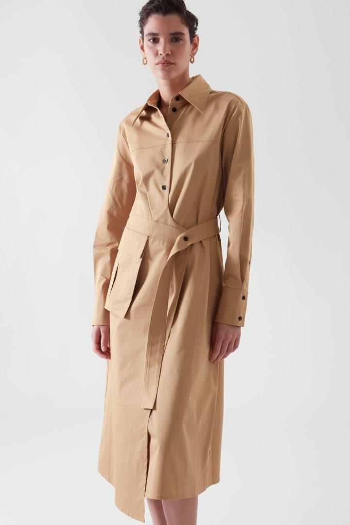 COS default image 11 of 베이지 in 벨티드 셔츠 드레스