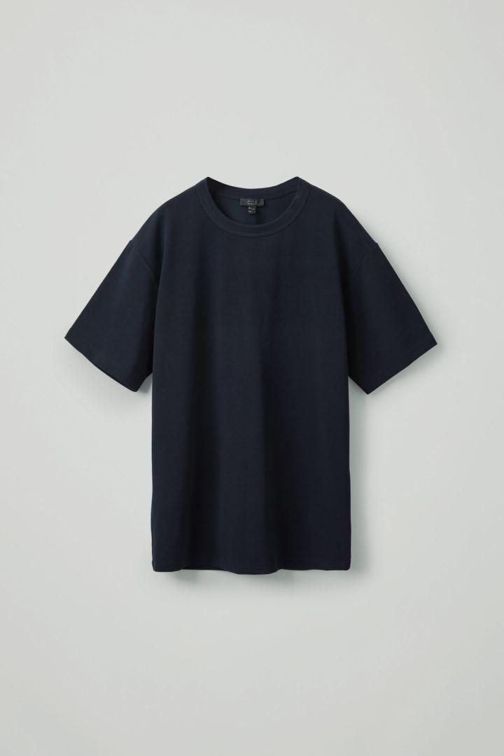 COS hover image 2 of 블루 in 릴랙스드 핏 티셔츠