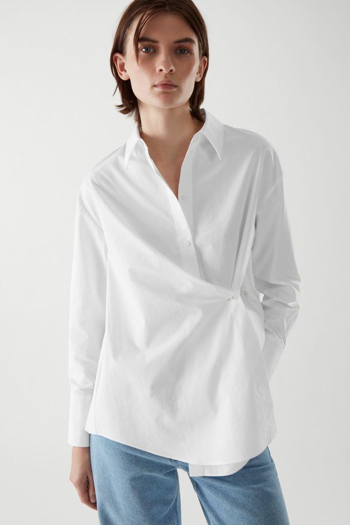 COS default image 2 of 화이트 in 랩 셔츠