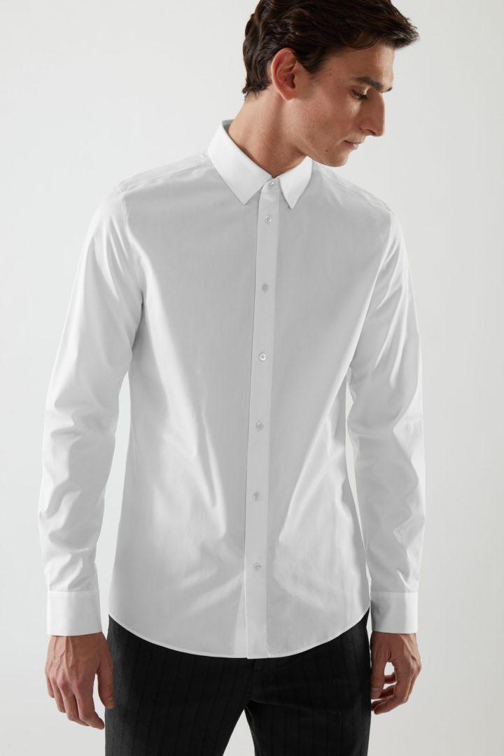 COS default image 4 of 화이트 in 테일러드 셔츠