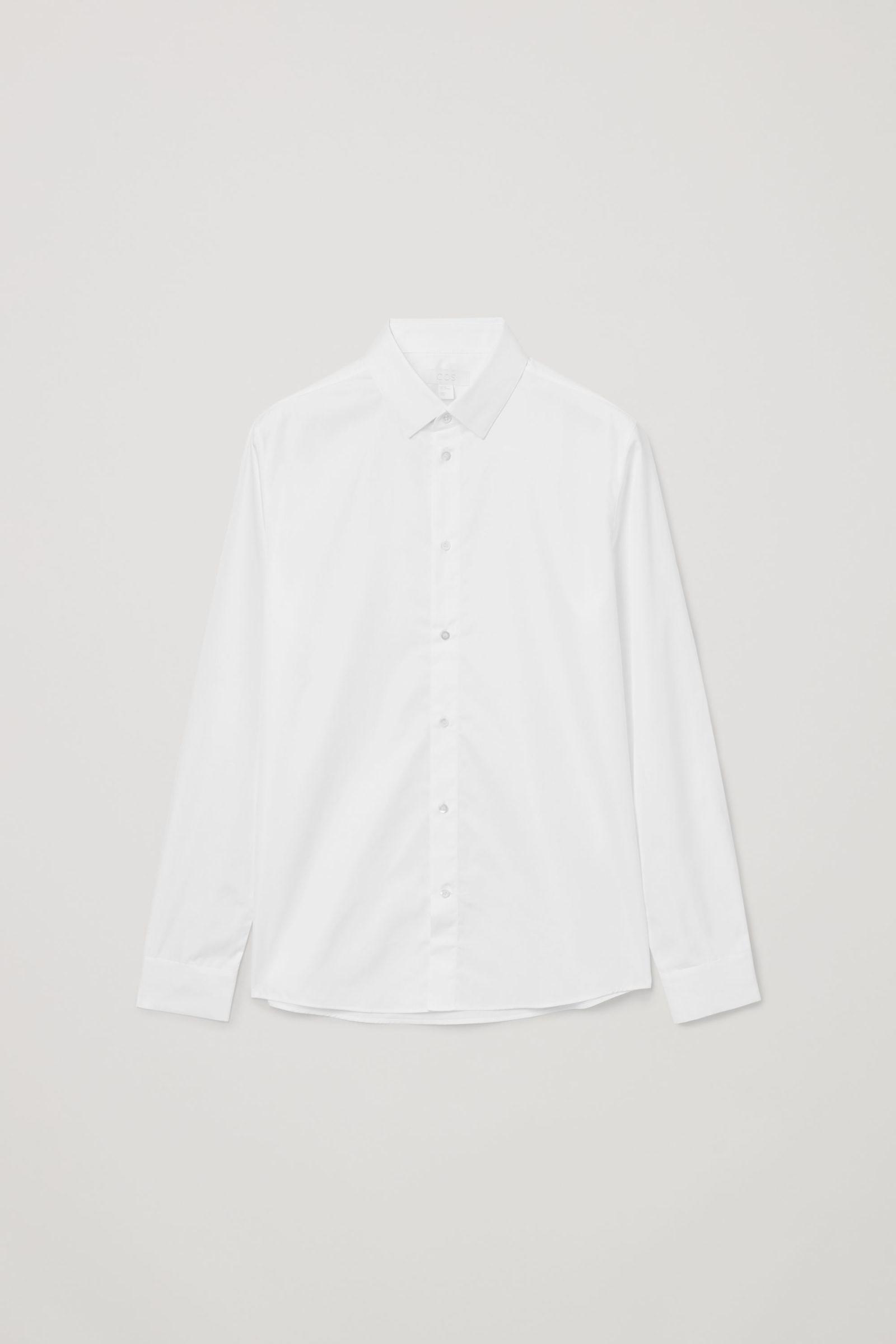 COS 테일러드 셔츠의 화이트컬러 Product입니다.