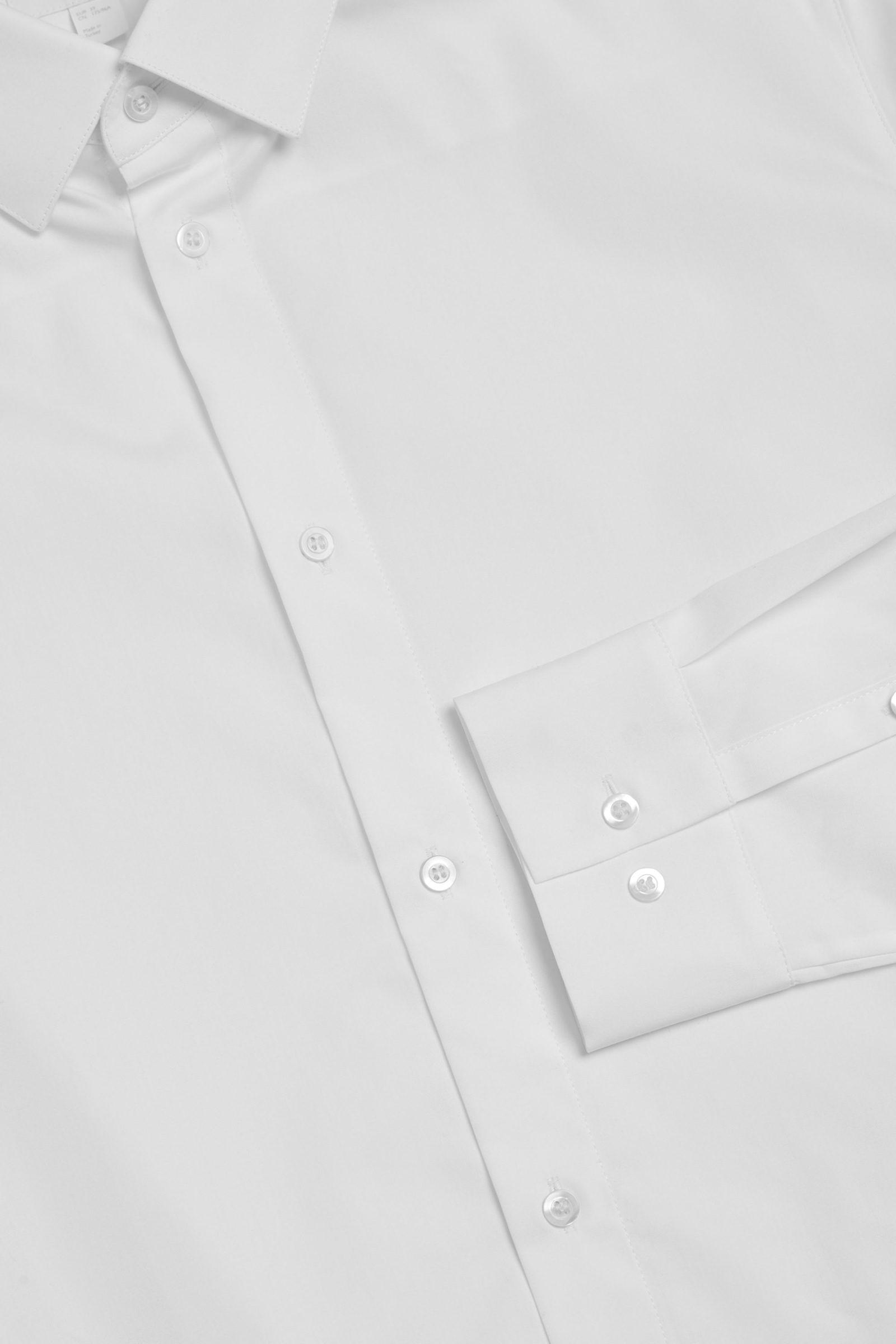 COS 테일러드 셔츠의 화이트컬러 Detail입니다.