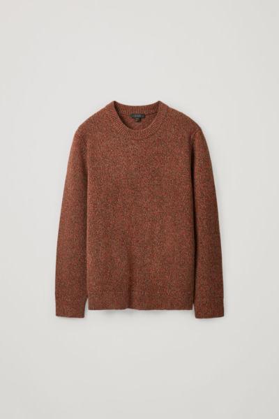 COS default image 9 of 레드 in 멀티컬러 스티치 스웨터