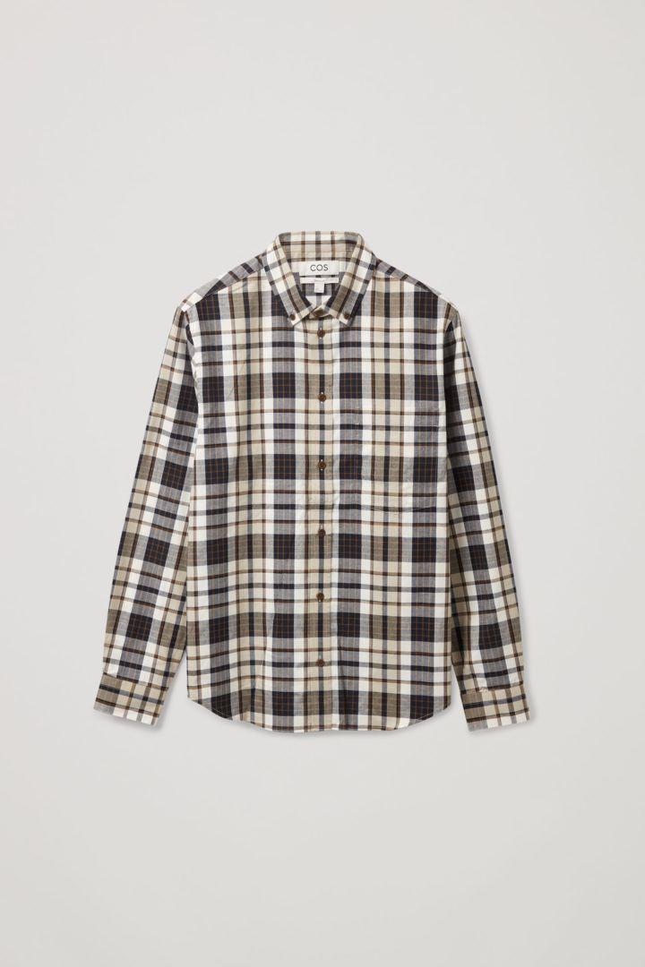 COS 레귤러 핏 플란넬 셔츠의 멀티컬러컬러 Product입니다.