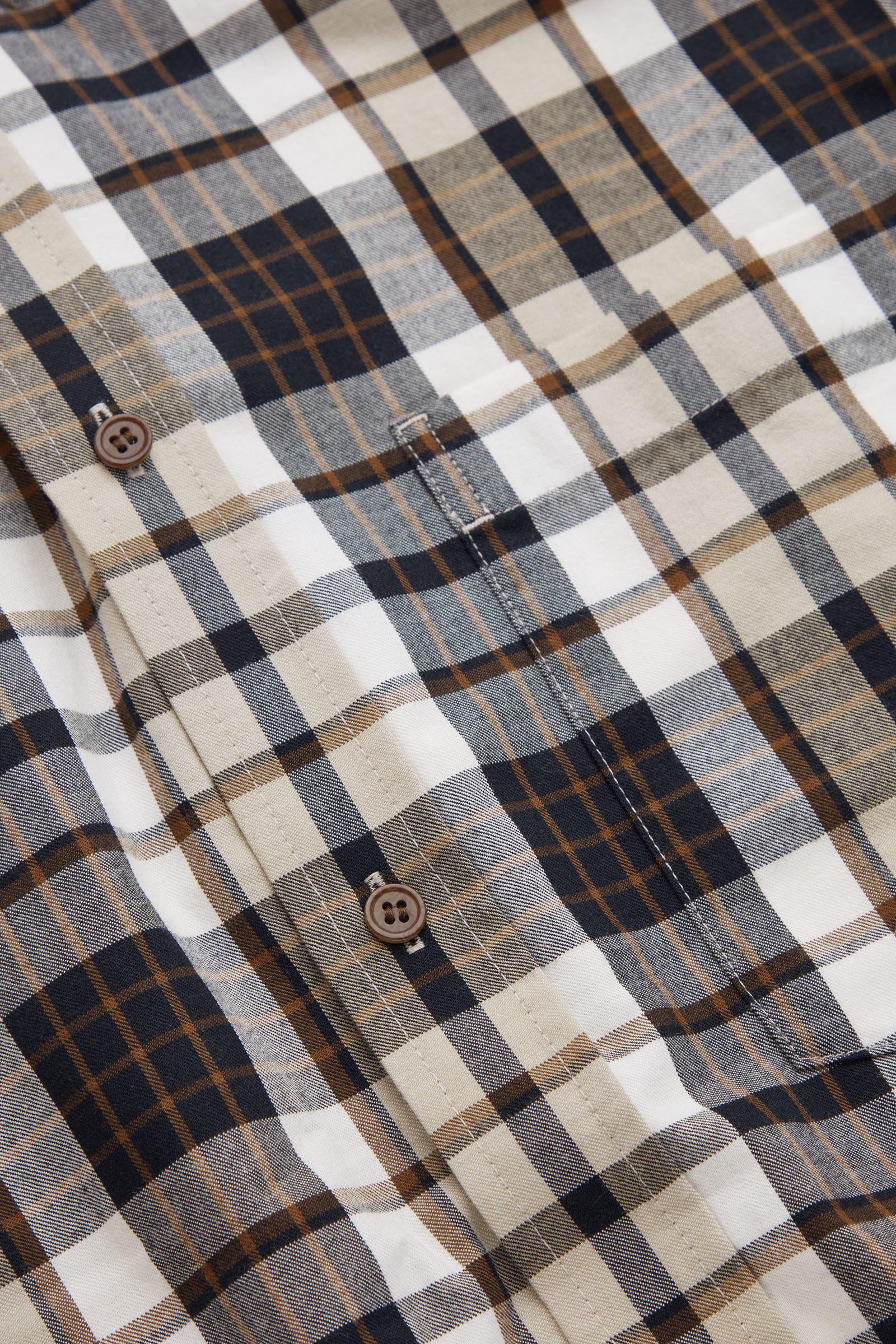 COS 레귤러 핏 플란넬 셔츠의 멀티컬러컬러 Detail입니다.