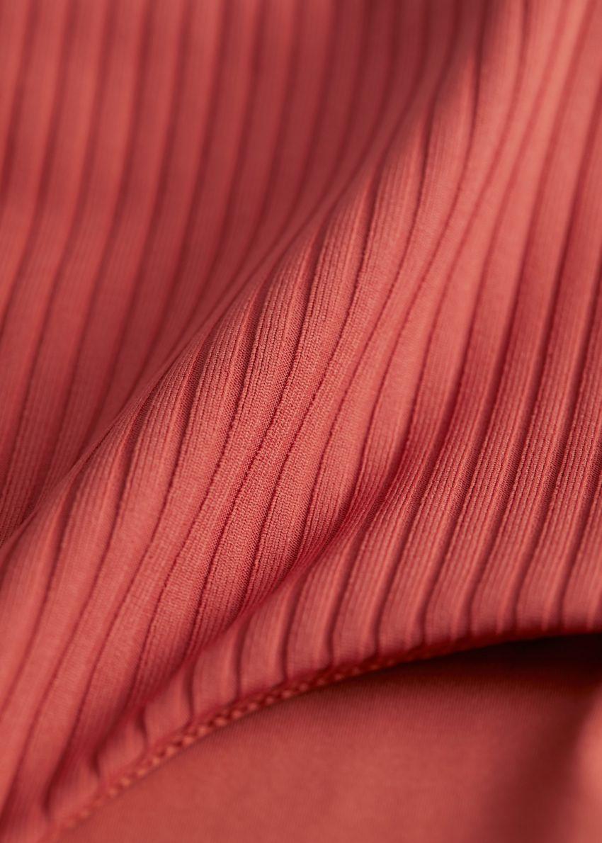 앤아더스토리즈 립 하이 웨이스트 비키니 브리프의 오렌지컬러 Detail입니다.