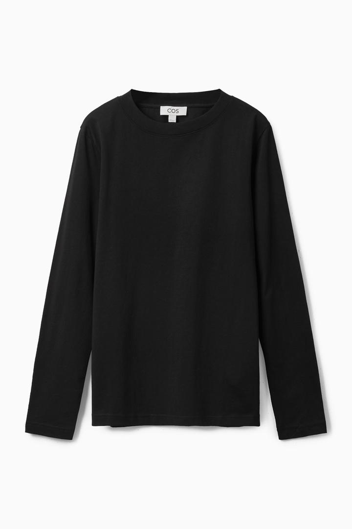 COS hover image 7 of  in 와이드 넥 롱 슬리브 티셔츠