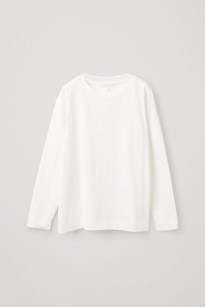 COS hover image 6 of  in 와이드 넥 롱 슬리브 티셔츠