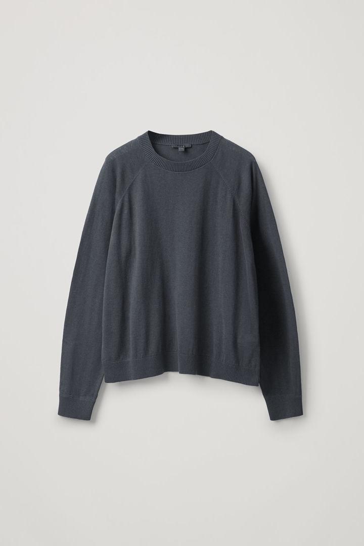 COS hover image 4 of 블랙 in 코튼 캐시미어 스웨터