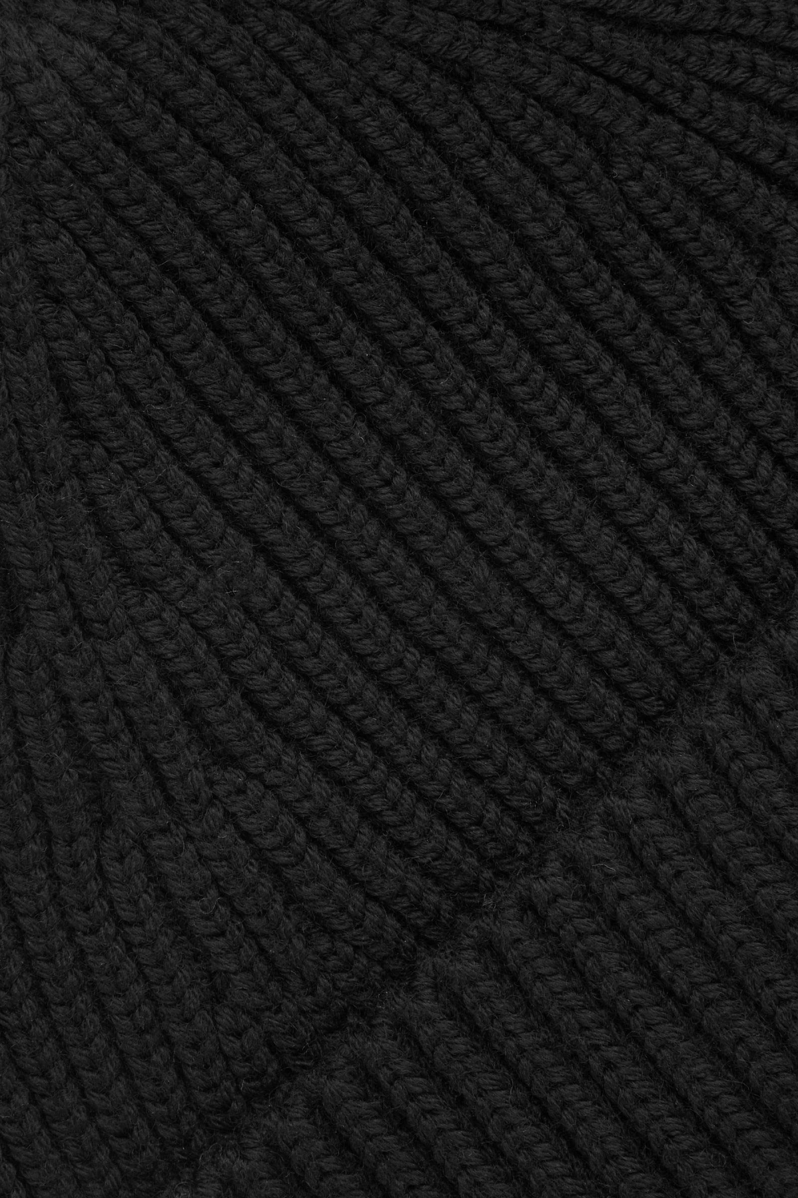 COS 쇼트 메리노 비니의 블랙컬러 Detail입니다.