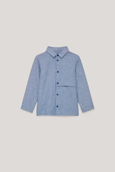 COS default image 9 of 블루 in 히든 포켓 코튼 셔츠