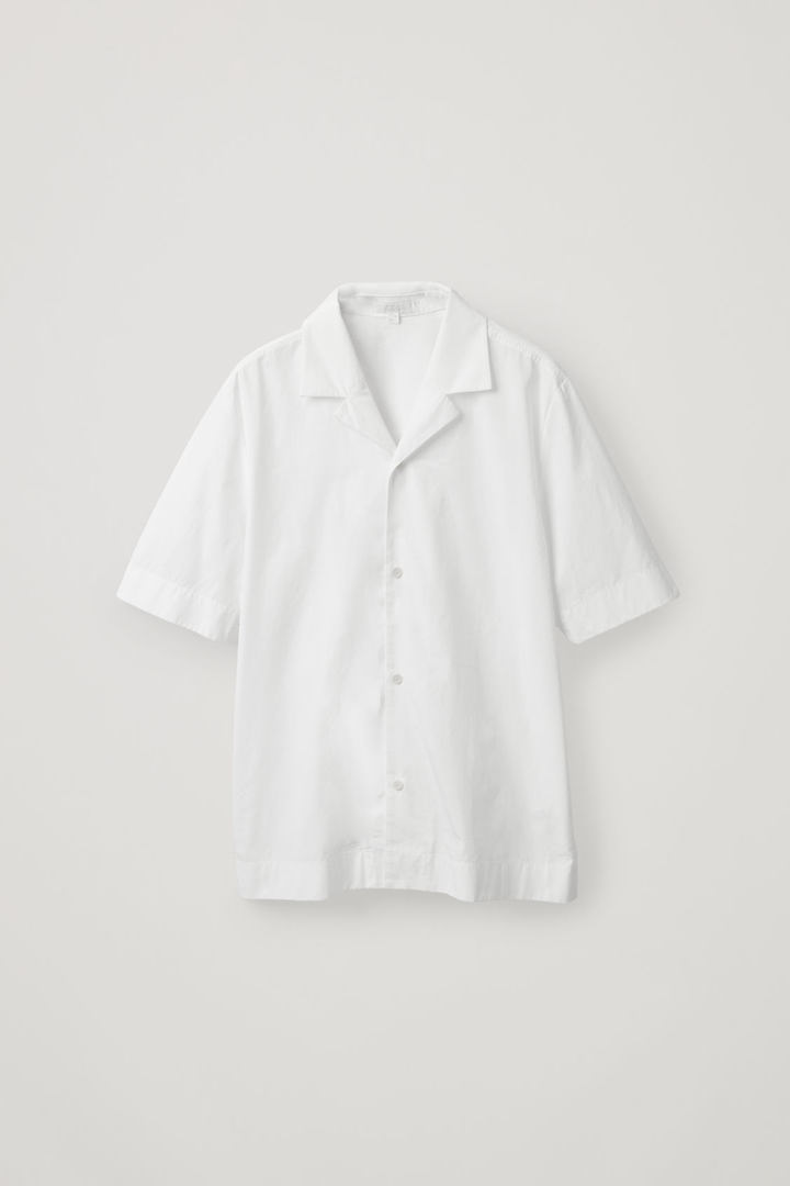 COS hover image 9 of 화이트 in 캠프 칼라 코튼 믹스 셔츠