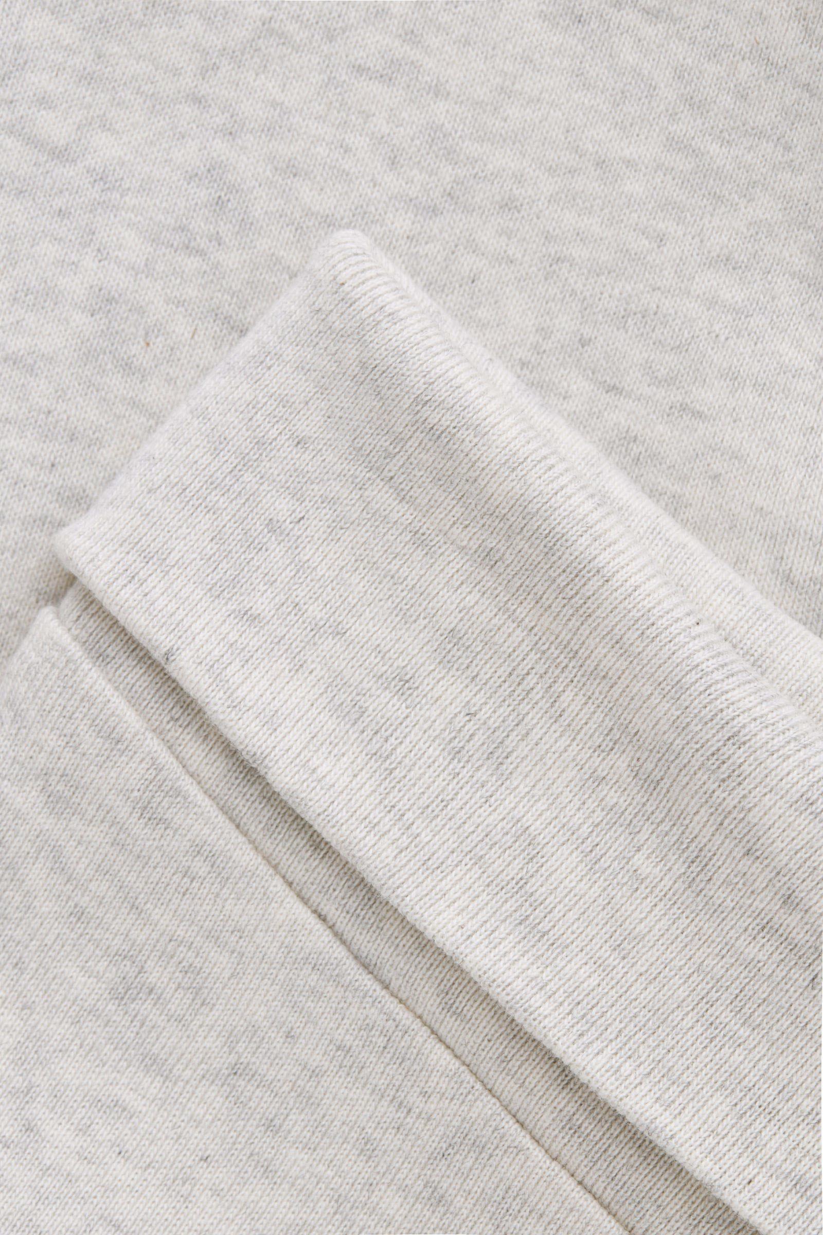 COS 멜란지 오가닉 코튼 트라우저의 라이트 그레이 멜란지컬러 Product입니다.