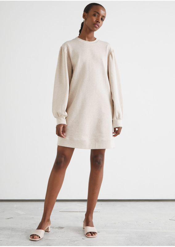 &OS image 15 of  in 릴렉스드 스웨트셔츠 미니 드레스
