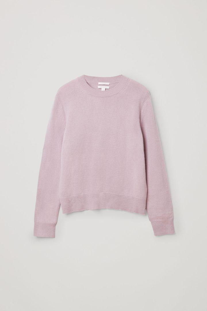 COS default image 11 of 핑크 in 캐시미어 리브 디테일 스웨터
