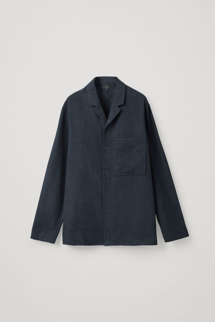 COS hover image 7 of 블루 in 코튼 파자마 셔츠
