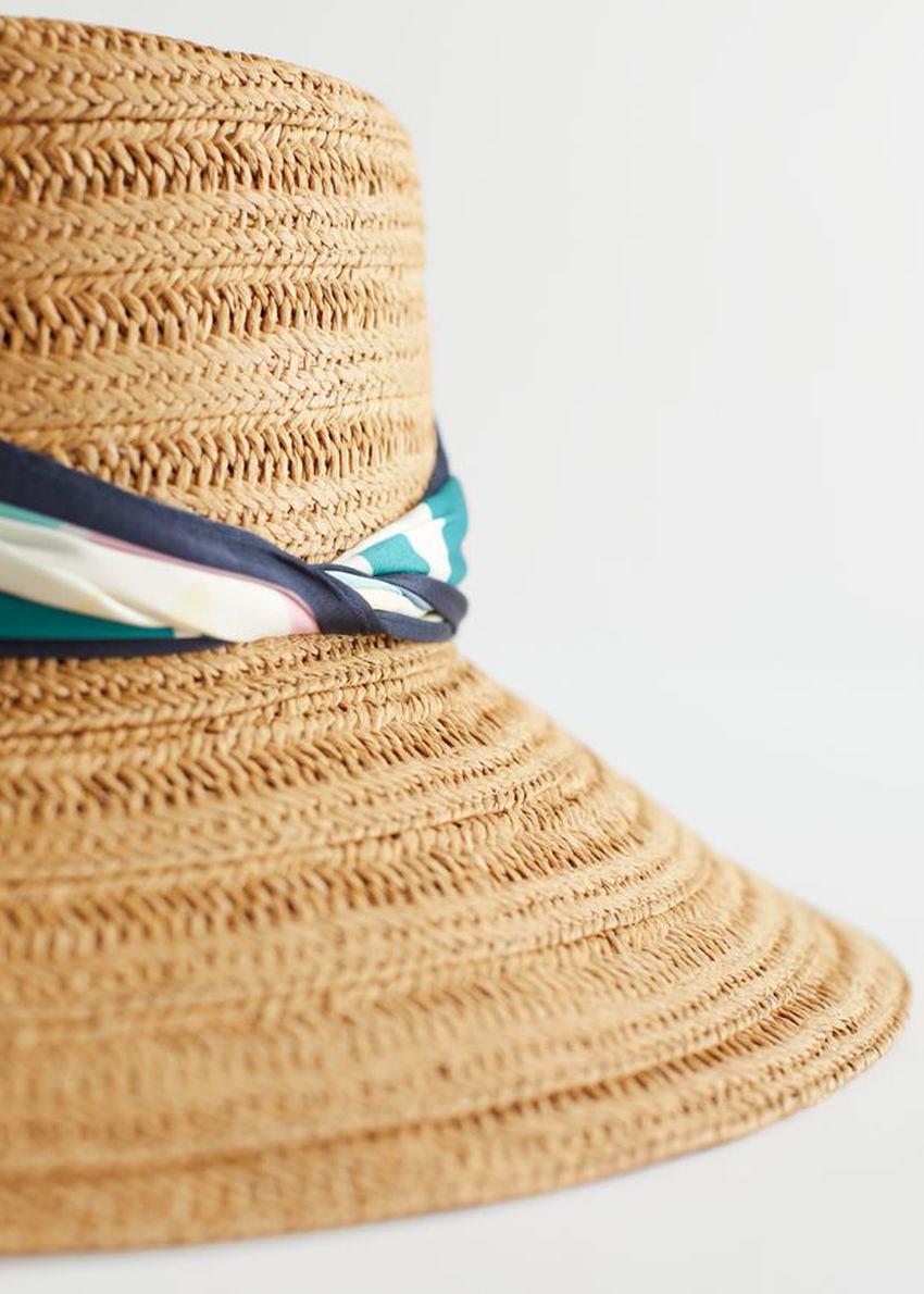 앤아더스토리즈 우븐 스트로 리본 브림 햇의 스트로컬러 Detail입니다.
