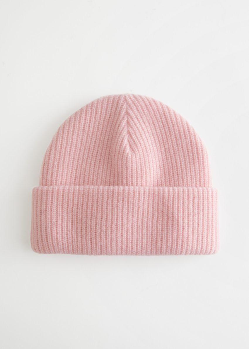 앤아더스토리즈 니트 울 블렌드 비니 의 라이트 핑크컬러 Product입니다.