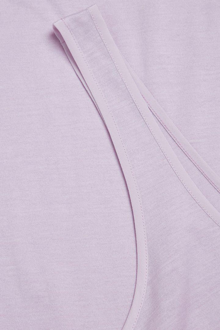 COS 실크 코튼 베스트 탑의 핑크컬러 Detail입니다.