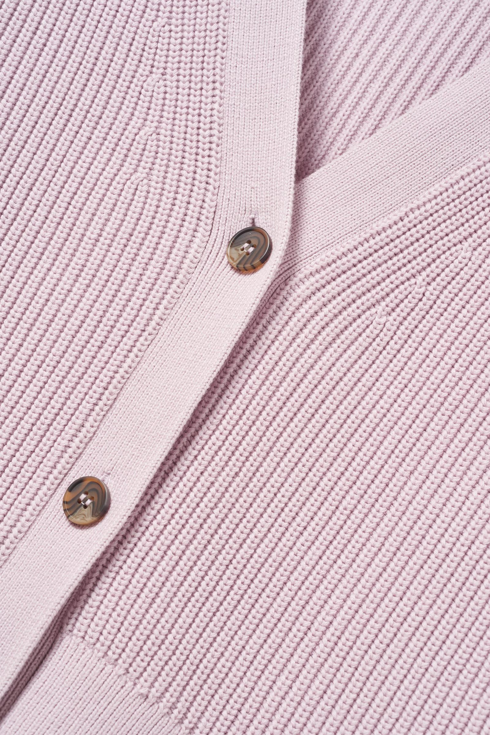 COS 자카드 니트 가디건의 핑크컬러 Detail입니다.