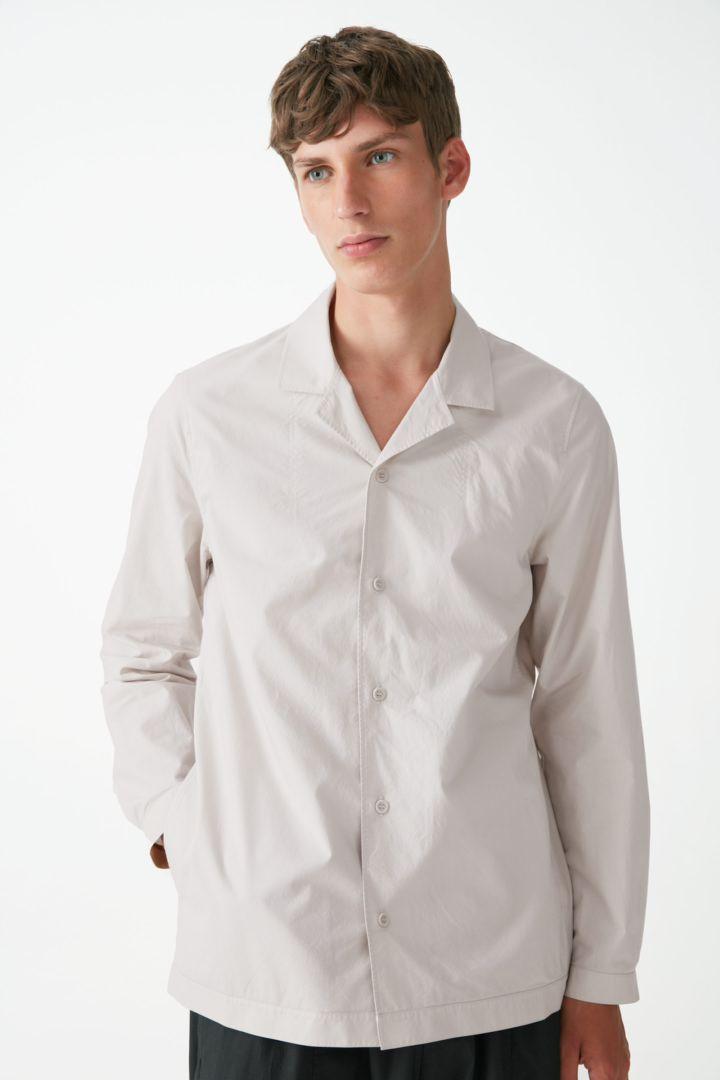 COS default image 10 of 브라운 in 캠프 칼라 오가닉 코튼 셔츠