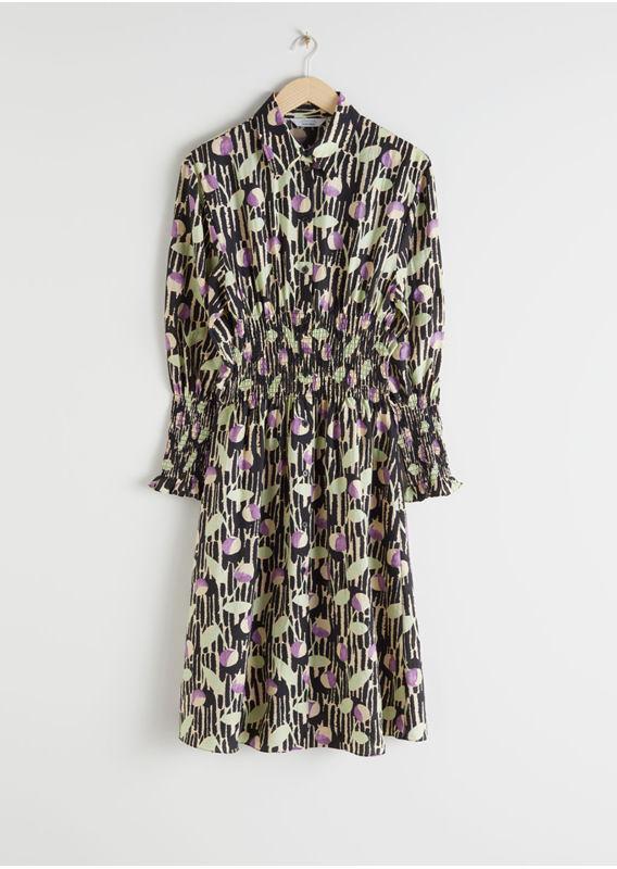 &OS image 26 of  in 스모크 플레이드 미디 셔츠 드레스