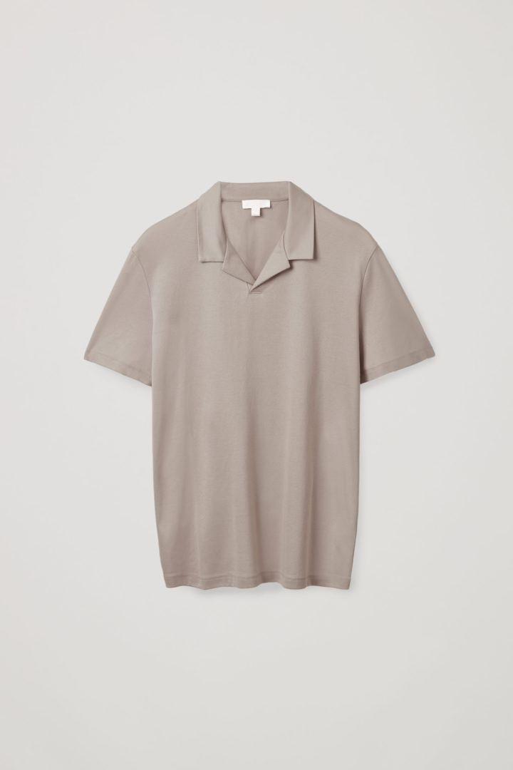 COS 오픈 칼라 폴로 셔츠의 몰컬러 Product입니다.