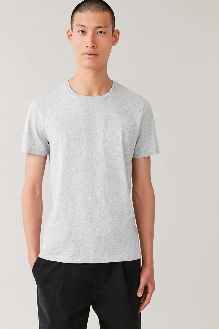 COS default image 5 of 그레이 in 라운드 넥 티셔츠